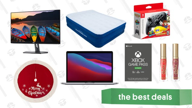 Wednesday s Best Deals: New M1 MacBooks, Xbox Game Pass Ultimate, Christmas Tree Skirts, Switch Pro Controller Bundle, Too Faced Lipstick, and More