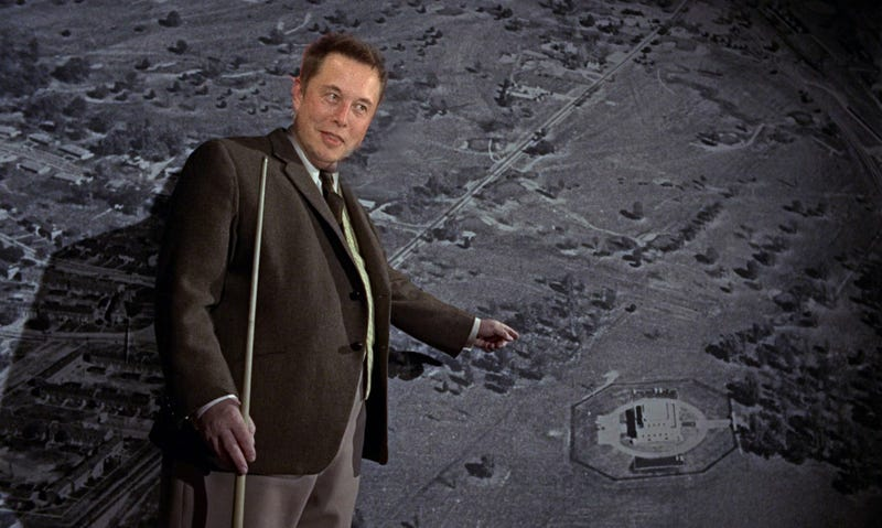 Elon Goldfinger masterminding a plan to break into the Fort Knox Lithium depository in Kentucky.