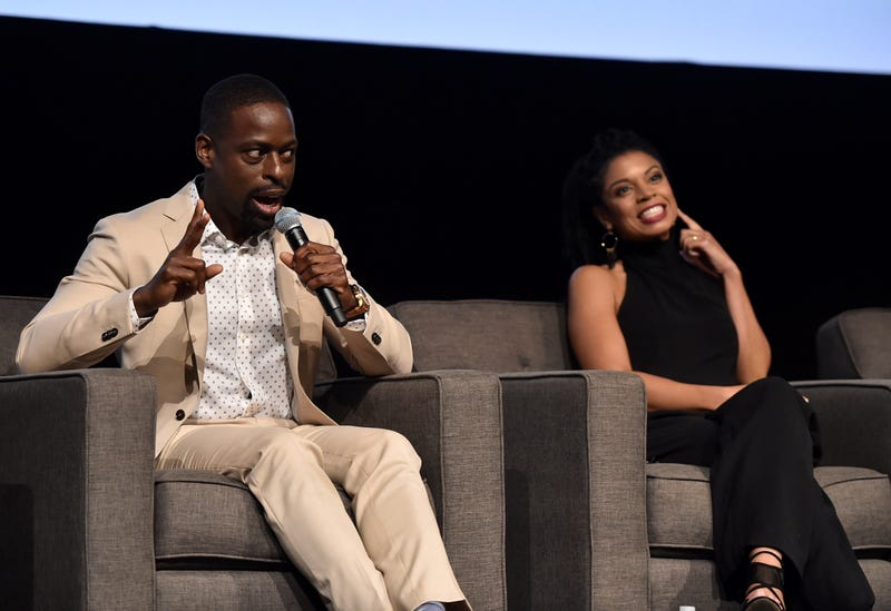 "Sterling K. Brown and Susan Kelechi Watson attend a panel discussion for An Evening With ""This Is Us"" at Paramount Studios on August 13, 2018 in Hollywood, California."