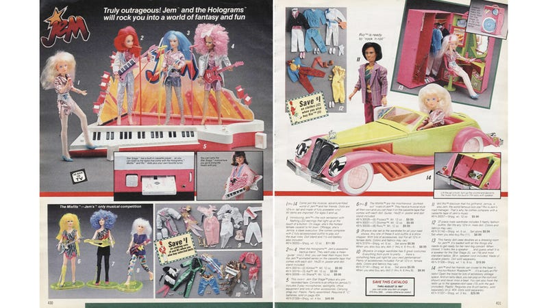 Illustration for article titled Let's Shop for Jem and the Holograms Dolls in 1986