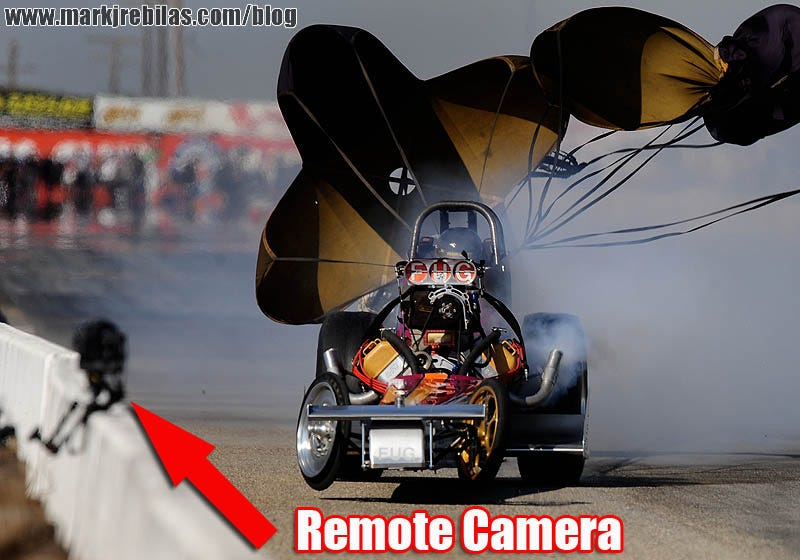Illustration for article titled 200 MPH Dragster vs. $10,000+ Camera Rig = Trouble