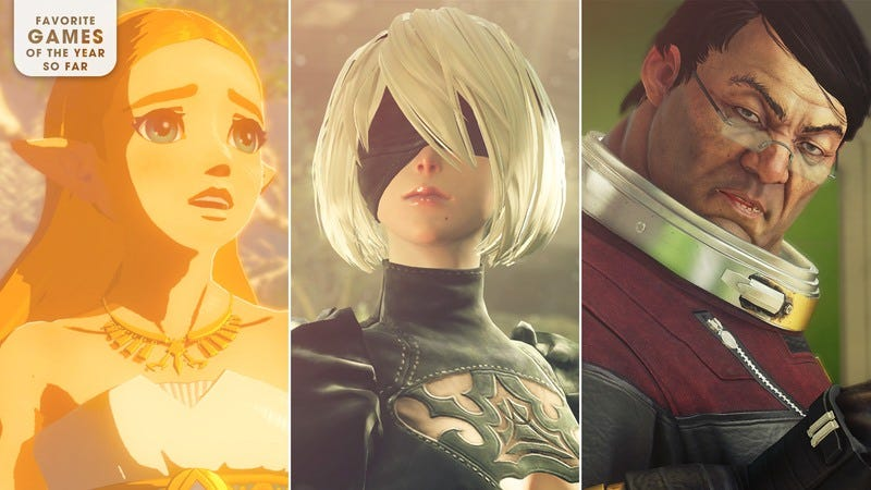 Zelda (Screenshot: The Legend Of Zelda: Breath Of The Wild/Nintendo), 2B (Screenshot:  NieR: Automata/Square Enix), Alex Yu (Screenshot: Prey/Bethesda Softworks). Graphic: Marcus Nuccio.