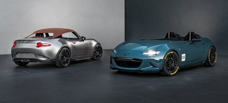 Illustration for article titled The Mazda MX-5 Spyder And Speedster Concepts Prove Roofs Are Overrated And So Are Windshields