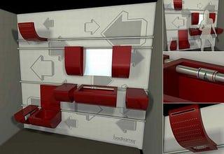 Illustration for article titled Badkamer: Save Bathroom Space With Fixtures That Slide on Rails