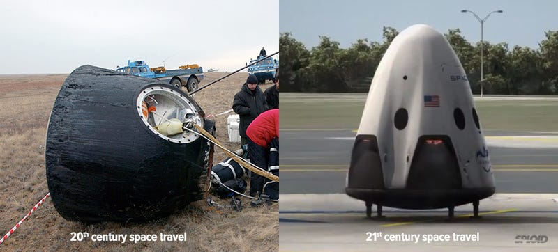 Illustration for article titled How SpaceX Dragon V2 dramatically changes space travel in one image
