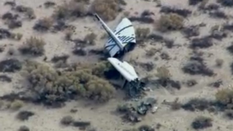 Illustration for article titled Virgin Galactic Space Ship Two Crashed During Test Flight, Killing One