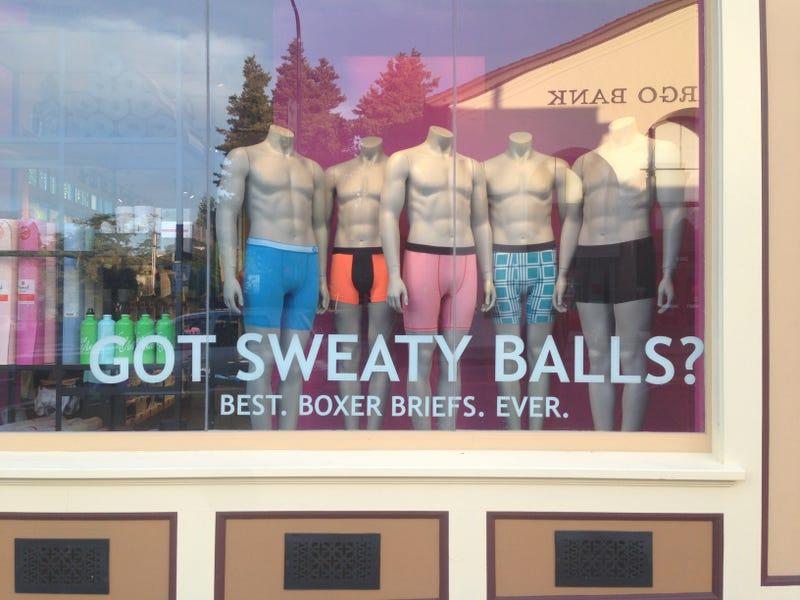 "Illustration for article titled Lululemon asks, ""Got sweaty balls?"""