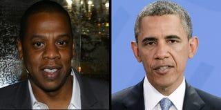Jay-Z (Larry Busacca/Getty Images); President Obama (Timur Emek/Stringer/Getty Images)