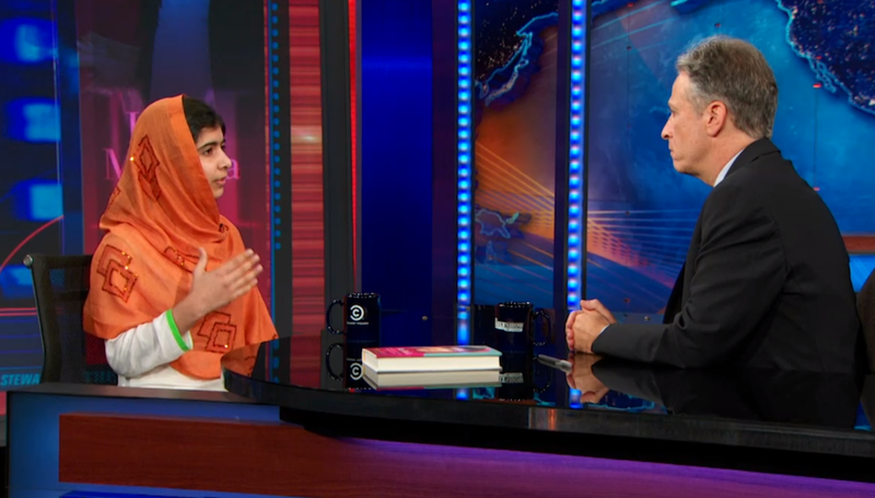 Illustration for article titled Jon Stewart to Malala Yousafzai: Can I Adopt You?