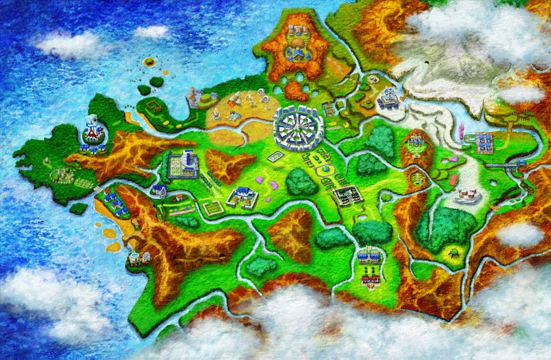 Illustration for article titled Every Pokémon You Can Catch In X & Y, In One Handy Map