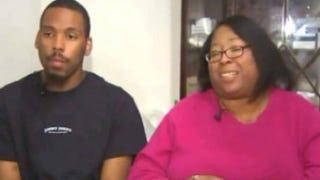 Tevin Hamilton and his mother,Rhonda McClarnyoutube