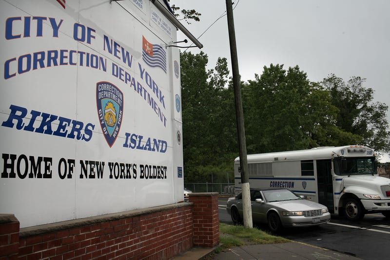 A view of the entrance to the Rikers Island jail complex in New York City in 2011 Spencer Platt/Getty Images