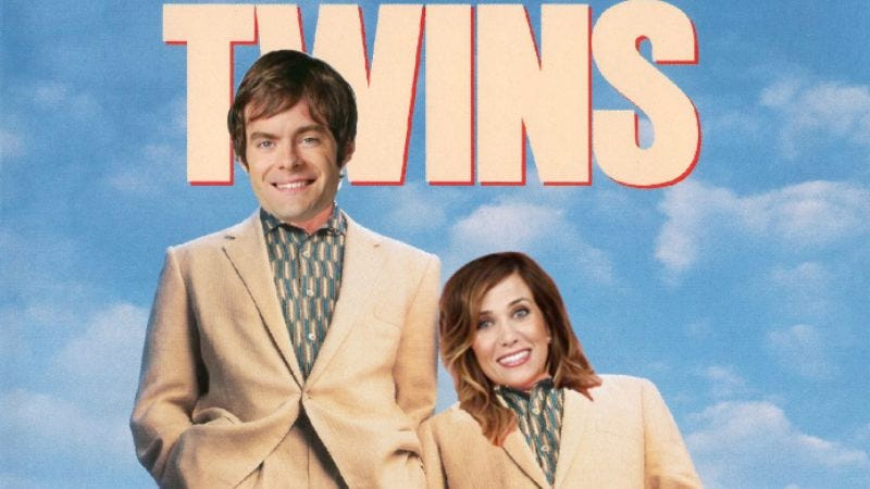 Illustration for article titled Bill Hader and Kristen Wiig are going to play twins