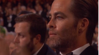 Chris Pine at the Academy Awards Feb. 22, 2015Youtube screenshot