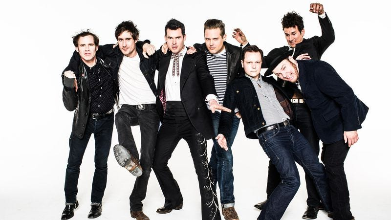 Secor, third from left, with the rest of Old Crow Medicine Show