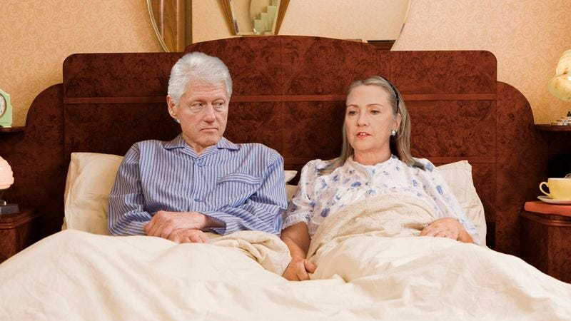 Hillary Clinton Quietly Asks Bill If He Still Finds Her