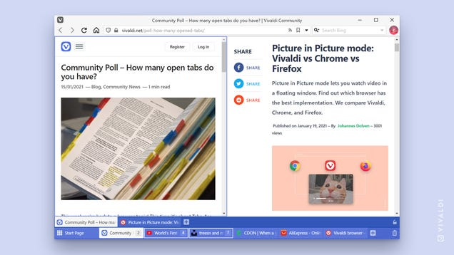 Vivaldi Delivers Two-Level Tab Stacking Feature for Tab Hoarders