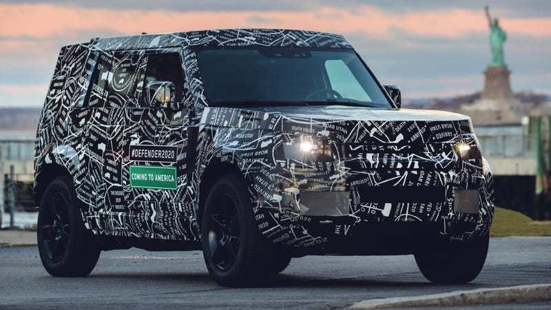 Illustration for article titled The Land Rover Defender Is Coming Back to the U.S. in 2020