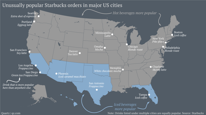 Illustration for article titled What Is Your City's Most Distinctive Starbucks Order?