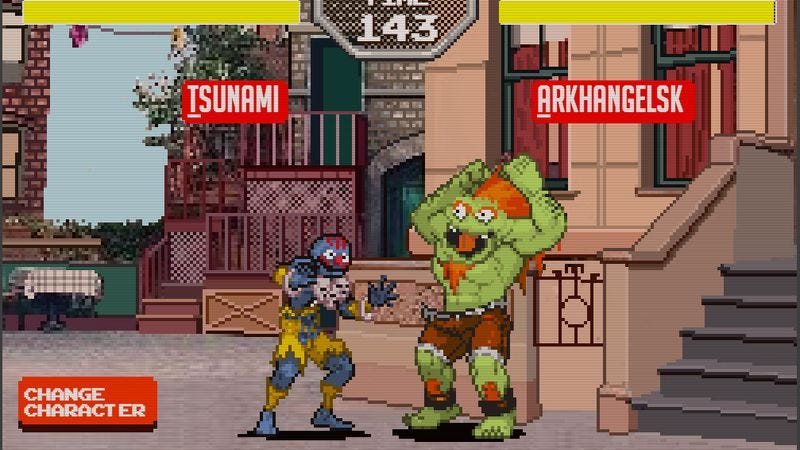 Illustration for article titled It's Muppets vs. Capcom in Sesame Street Fighter