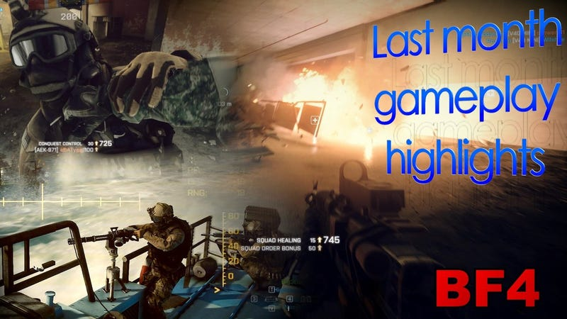 Illustration for article titled Last month's top-5 BF4 moments montage