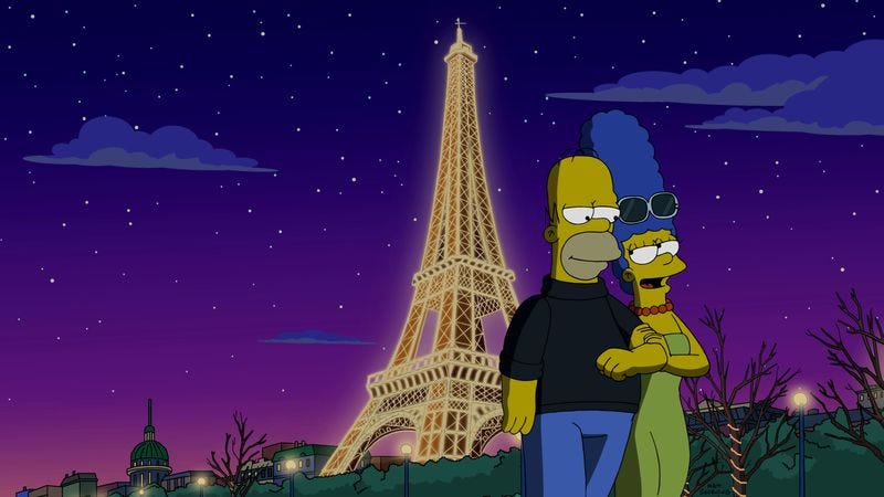 Illustration for article titled The Simpsons have a silly, funny time in Paris