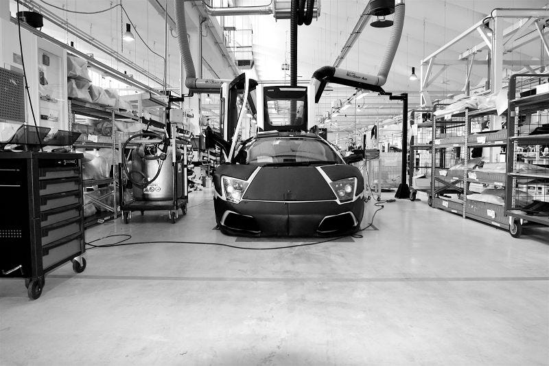 Illustration for article titled Bulls On Assembly Parade: Touring The Lamborghini Factory