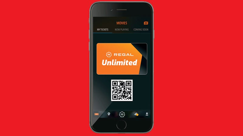 Illustration for article titled Regal Cinemas' MoviePass-Style Unlimited Plan Will Start at $18 Per Month