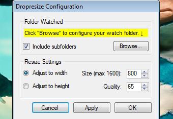 Illustration for article titled Dropresize Monitors Folders, Automatically Resizes Photos