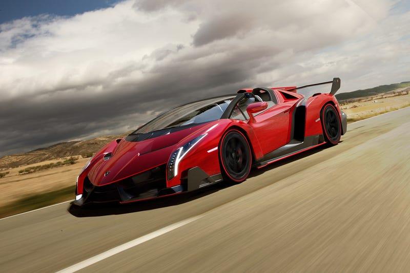Illustration for article titled The Lamborghini Veneno Roadster Will Hit 221 MPH