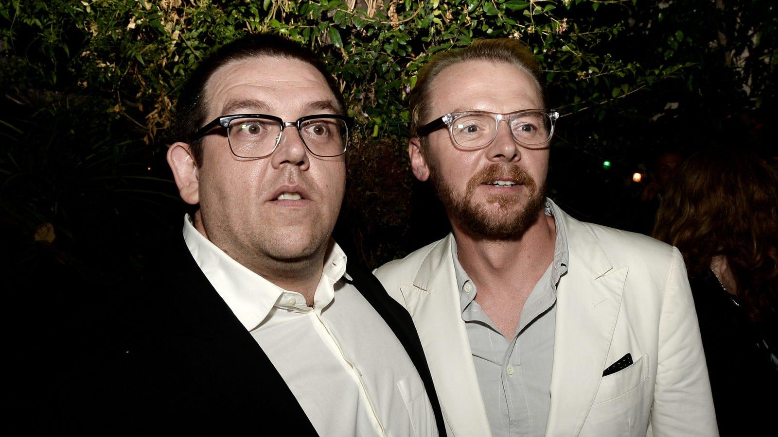 Nick Frost and Simon Pegg making Swedish murder movie Svalta