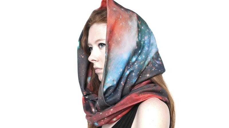 Illustration for article titled Hubble-print dresses, skirts, and scarves let you wear your space porn everywhere