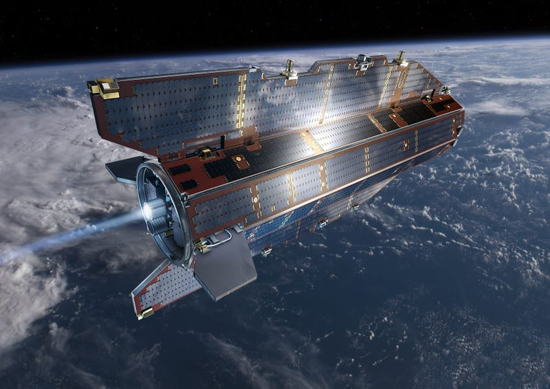 Illustration for article titled This Gravity-Sensing Satellite Peeks Beneath the Earth's Surface