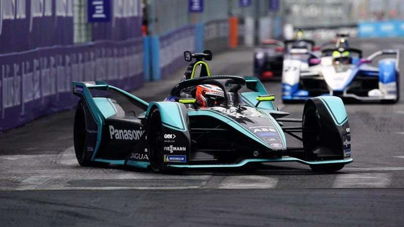 Illustration for article titled Mitch Evans Wins Jaguar's First Formula E Race in Rome