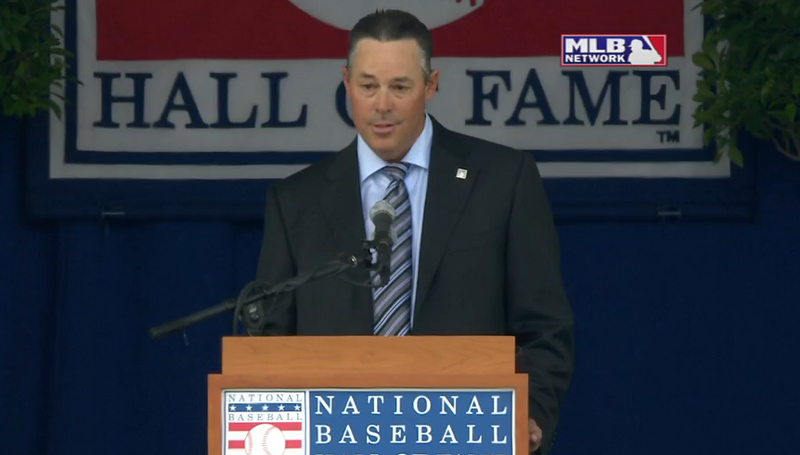 Illustration for article titled Greg Maddux Makes Fart Joke During His HOF Induction Speech