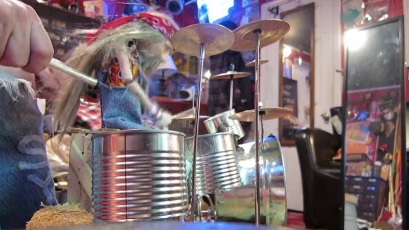 "Illustration for article titled This little puppet mastered Rush's ""Tom Sawyer"" on drums, so what's your excuse?"
