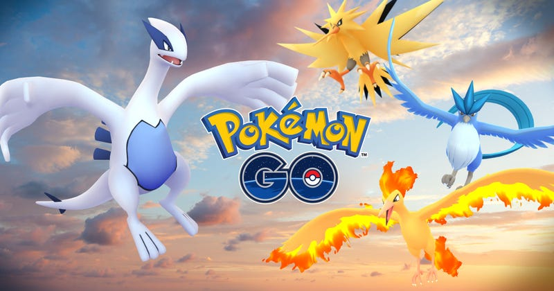 Illustration for article titled Pokémon Go's First Legendaries Are Lugia and Articuno, Both Live Now [UPDATE]