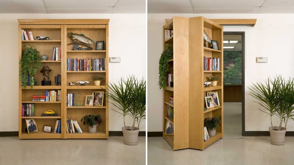 If youu0027ve managed to scrimp and save $3000 for some much needed home improvement forget about fixing that giant hole in the floor of the kidsu0027 room and ... & Four Words: Secret. Folding. Bookshelf. Door. u0027Nuff Said.