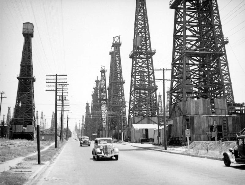 Los Angeles Was Once a Forest of Oil Derricks on