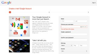 Illustration for article titled How to Sign Up for a Google Account Without Being Forced into Google+ or Gmail