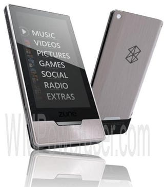 Illustration for article titled New Zune HD Renders Surface: Fake Fan Art or For Real?