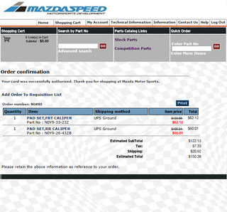 I should've ordered 25$-worth of Mazdaspeed decals because they are doing free shipping for orders over 150$! GFDI