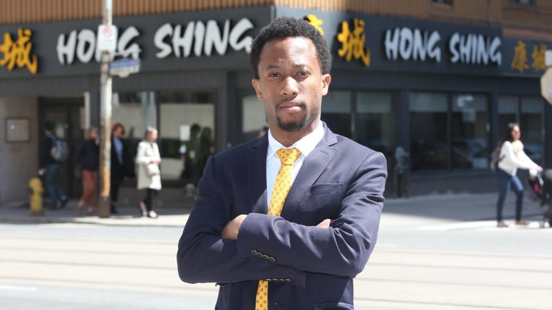 Emile Wickham, who just won a discrimination case with the Ontario Human Rights Tribunal against Hong Shing Chinese restaurant