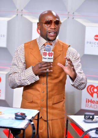 Floyd Mayweather Jr. attends the iHeartRadio Music Festival at the MGM Grand Garden Arena in Las Vegas Sept. 21, 2013.Bryan Steffy/Getty Images for Clear Channel