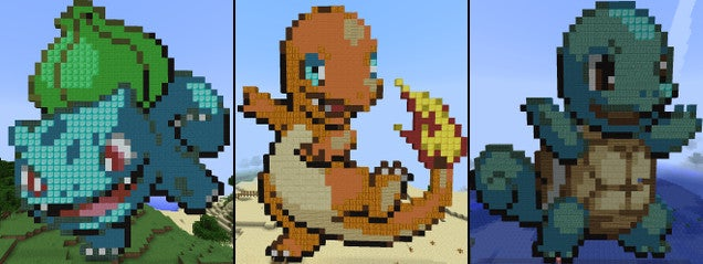how to build pokemon in minecraft pe