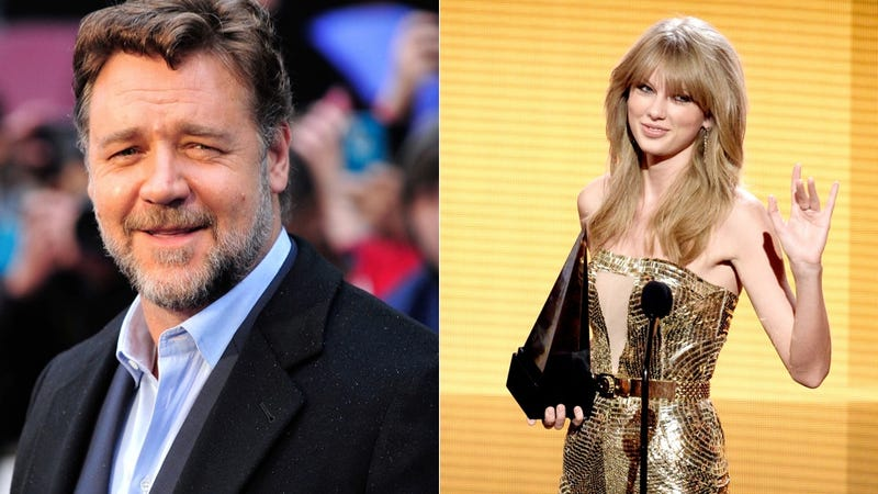 Illustration for article titled Russell Crowe Wants Taylor Swift to Know He's Thinking of Her