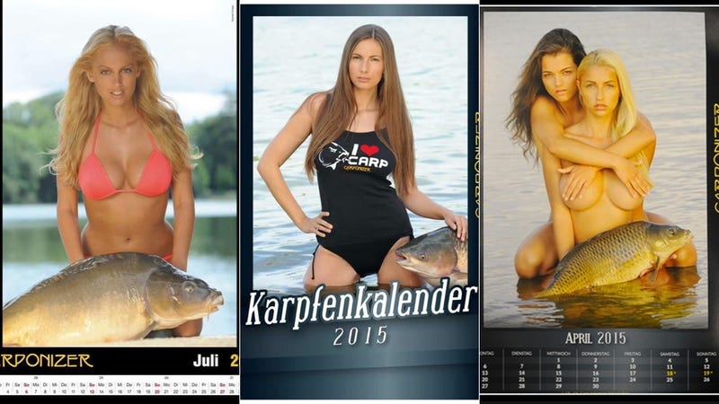 Illustration for article titled Why Wasn't I Called to Model for This 2015 Erotic Carp Calendar