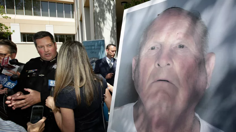 A law enforcement photo provided by the Sacramento County Sheriff's Office shows Joseph James DeAngelo, the suspected Golden State Killer.