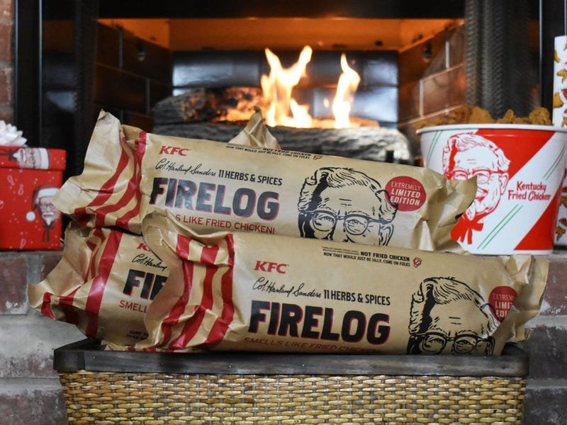Illustration for article titled KFC Is Selling Firelogs That Smell like Fried Chicken Since Nobody Wants to Eat There
