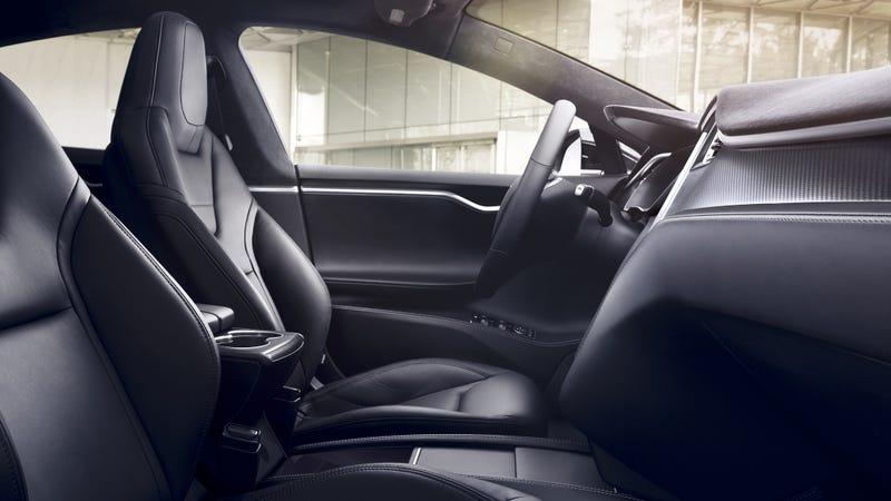 Interior de un Model S de Estados Unidos. Imagen: Tesla